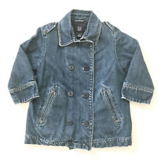 GAP Girls Denim Jean Jacket Coat Buttons Toddler 3 Years Insulated warm lined r3