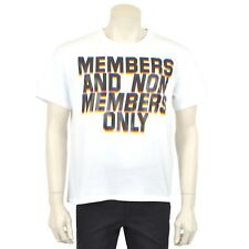 STELLA MCCARTNEY $260 White Members Print Crew Neck T-shirt