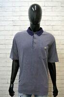 LACOSTE Uomo Maglia Polo Blu Taglia 7 Slim ( XL) Maglietta Shirt Men Herrenhemd