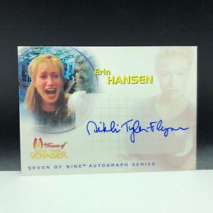 STAR TREK WOMEN OF VOYAGER autograph card Raven auto Nikki Tyler Erin Hansen SA5