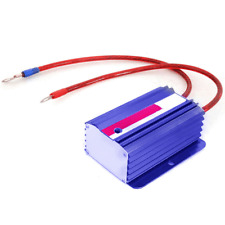 Blue Car Battery Voltage Stabilizer Regulator Ground Power Efficiency Universal