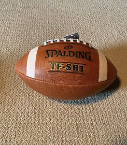Spalding Leather Football TF-SB1 Official Size & Weight New MPN 72-6038
