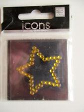 MAMBI ICONS STICKERS - YELLOW STAR- rhinestone gems
