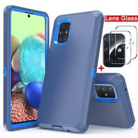 For Samsung Galaxy A71 5G A51 Case Shockproof Armor Cover+Camera Lens Protector