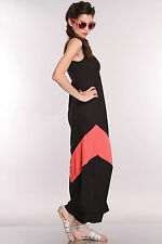 #02 Women Sexy Black & Size S Bodycon Bodysuit Microfiber Party Evening Dress