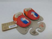 Acorn Baby Red Hedgehog Easy-On Moc Slippers Size 6-12 Months
