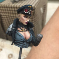 1/12 Scale Female Officer Resin Bust Model Unpainted Unassembled Garage Kit New