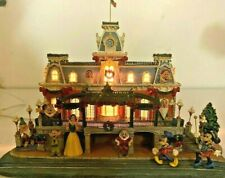 Disney Main St Disneyland Train Station Snow White Mickey Danbury Mint RARE TYPO