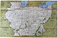 ⫸ 1977-2 Close Up: Illinois, Indiana, Ohio, KY – National Geographic Map Poster