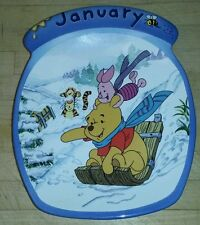 Euc Vintage Bradford Exchange Winnie the Pooh January collector plate numbered