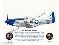 """352FG Bill Whisner's P-51 """"Moonbeam McSwine"""" Giclee art print by Willie Jones Jr"""