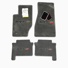 2006 2007 Jeep Grand Cherokee SRT SRT8 Medium Grey Floor Mats - Black & Red Logo
