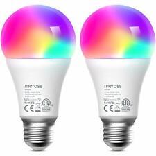 2 Pack meross Smart WiFi Bulb With Alexa, Google Home Multicolor 2700K-6500K