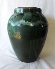 "Original Vintage Robinson Ransbottom 11 1/2"" Green Drip Glazed Oil Jar Excellant"