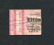 1973 Elton John Concert Ticket Stub Houston Texas Goodbye Yellow Brick Road