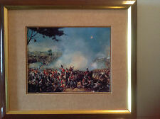 PAINTING FRENCH  NAPOLEON CONQUEST WAR ART REAL CANVAS PRINT BATTLE OF WATERLOO