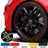 """Strisce Auto adesive adesivi cerchi CATARIFRANGENTI™ 6 mm 15"""" wheel rim stickers"""