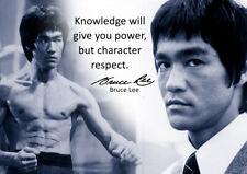 Cartel de Bruce Lee #58 - el mejor cotizaciones de motivación-A3 - 420mm X 297mm