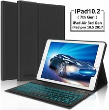 Black Keyboard Case For iPad Air 3 2019 Detachable Slim PU leather Stand Cover