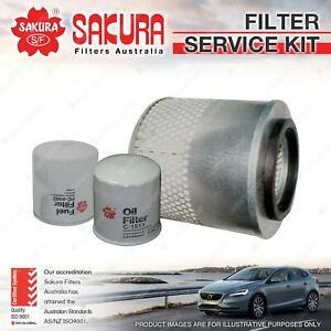 Sakura Oil Air Fuel Filter Service Kit for Holden Rodeo TFR54 54 TFR55 6 TFS55 6