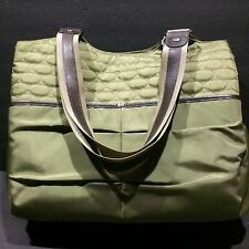 Mosey Bag Working Girl Tote Organizer Large Green Fern Diaper Gym Shopping
