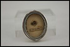 † 20TH ST GERMAINE COUSIN STERLING RELIQUARY 1 THECA RELIC WAX SEALED FRANCE †