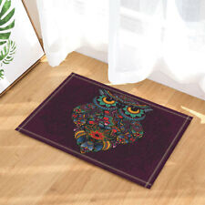 Colored Beautiful Owl Non-Slip Floor Outdoor Indoor Front Door Mat bathroom