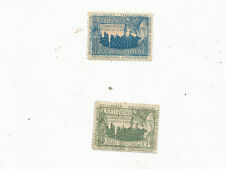 C6382B      LOT OF 2  advertising  EARLY POSTER STAMPS 1897 BRUSSELS EXPOSITION