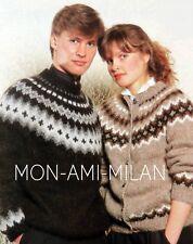 9b0cd1cbb1893 Fair Isle Yoke Cardigan   Sweater Knitting Pattern Copy Ladys Mens Nordic  Scandi