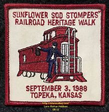 LMH Patch 1988 SUNFLOWER SOD STOMPERS Walking Club IVV AVA Volksmarch VOLKSSPORT