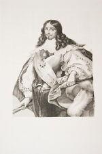Portrait-C. DE LA PORTE DUC DE LA MEILLERAYE MARECHAL-GRAVURE ACIER-VERSAILLES