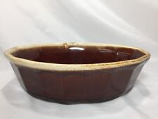 Vintage McCoy Brown Drip Oval Baking Dish Oven Proof 7071 USA made