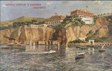 Sorrento Italy Hotels Loreley & Londres c1910 Postcard EXC COND