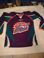 Orlando Solar Bears Youth Hockey Jersey CCM ECHL small/medium Sewn Patches EUC