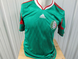 VINTAGE adidas MEXICO NATIONAL MEN'S TEAM SEWN MEDIUM JERSEY 2010/11 KIT FUTBOL