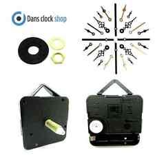 Replacement Extra Long Quartz Clock Movement Mechanism 26mm Shaft & Metal Hands