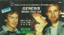 RARE / TICKET DE CONCERT - GENESIS PHIL COLLINS: LIVE A PARIS ( FRANCE ) 1987