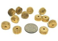 12pc TRADESHIP Japan 1/24 1/32 Slot Car 20T BRASS PINION GEAR 078 Axle Size Mint