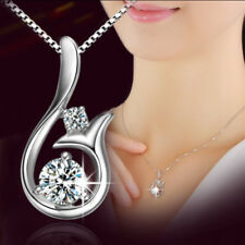 Sterling Silver Fashion Mermaid Pendant Necklace Jewelry Women Ladies Gift