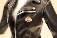 Harley Davidson doll biker motorcycle jacket Faux Leather fits 15-16in dolls