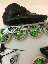 Luigino Strut Inline Skate - Black boot. Us size 13 Eu 45 With Hydrogen Wheels