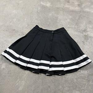 "VTG CHEERLEADER Cheerleading Uniform PLEATED Talon Zipper Striped Skirt 22"" XS"