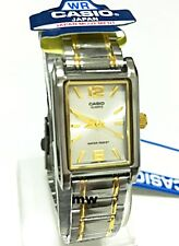 Casio Ladies Two Tone Gold Stainless Steel Analog Watch LTP-1235SG-7A Women's
