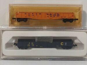 Micro-Trains & Concor N scale 2x 50' Gondolas D&RGW Rio Grande and B&O Chessie