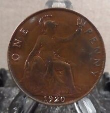 CIRCULATED 1920 1 PENNY UK COIN (20217)2