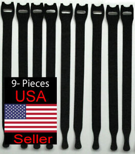 VELCRO Brand ONE-WRAP Thin Ties Cable Cord Organizer Reusable Straps - 9 Pcs.