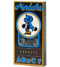 Andale Abec-7 Black Skateboard Skate Bearings set of 8 New, Spicy!