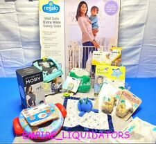 👶�� Baby Bundle �👶� Safety Gate, Bibs, Pacifier'S, Sleepsuit, Moby Wrap Etc