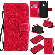 KT Strap Embossing Sun flower Wallet Card  Leather Case Cover Skin For LG Phone
