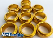 Aluminium Kart Wheel Spacers 17mm x 10mm - Pack of 10 - Gold - Highest Quality